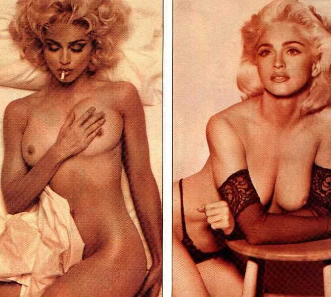 3 A vintage photo of Madonna naked. Yep, that's really her.
